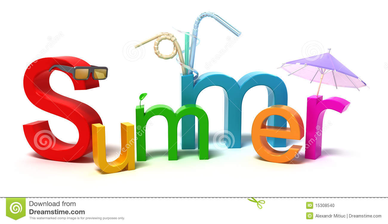 Word Summer With Colourful Letters Stock Photo Image