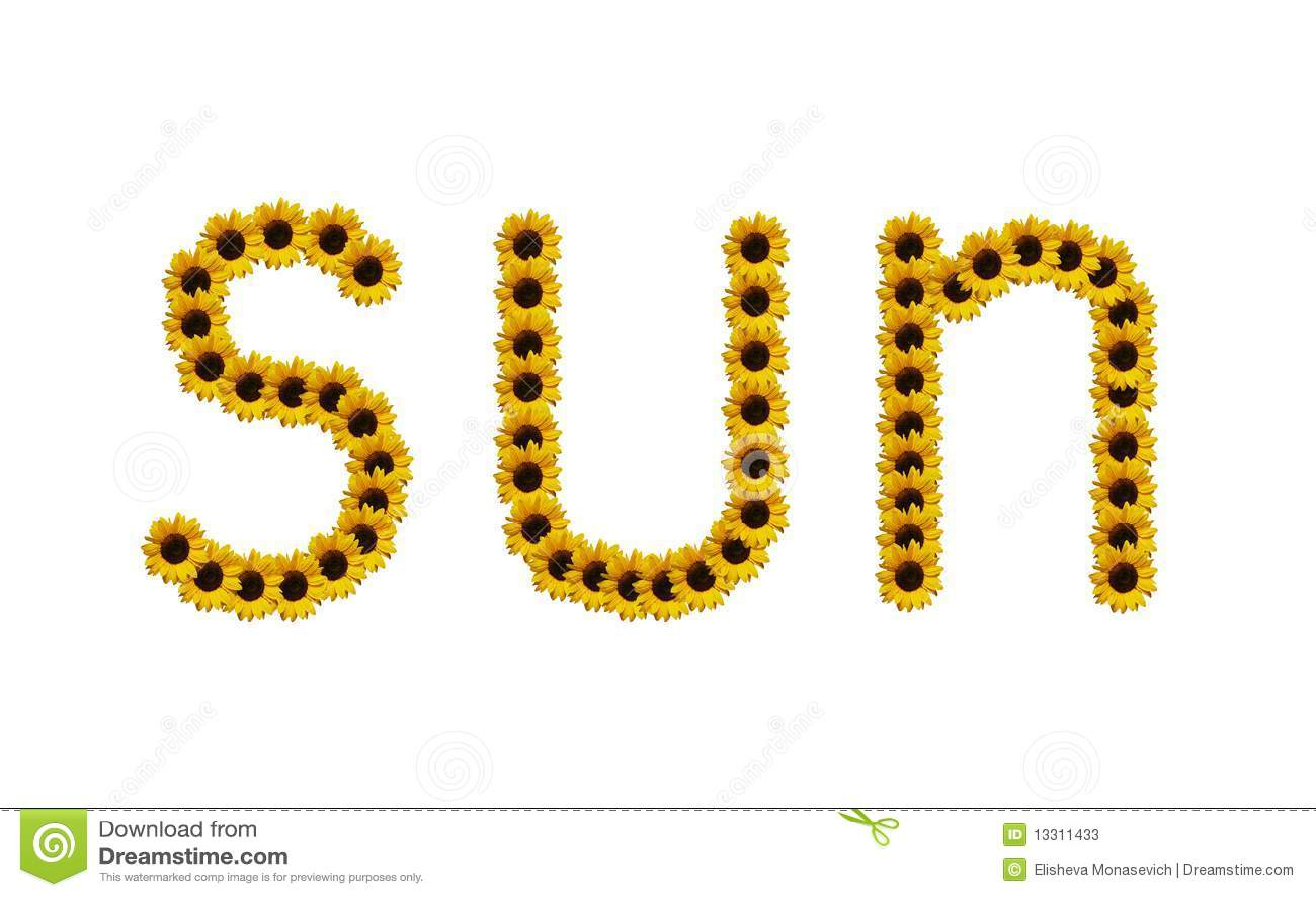 Free Sun Letters