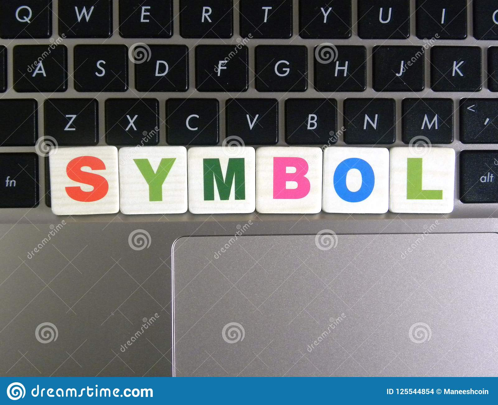 Word Symbol On Keyboard Background Stock Photo Image Of Characters