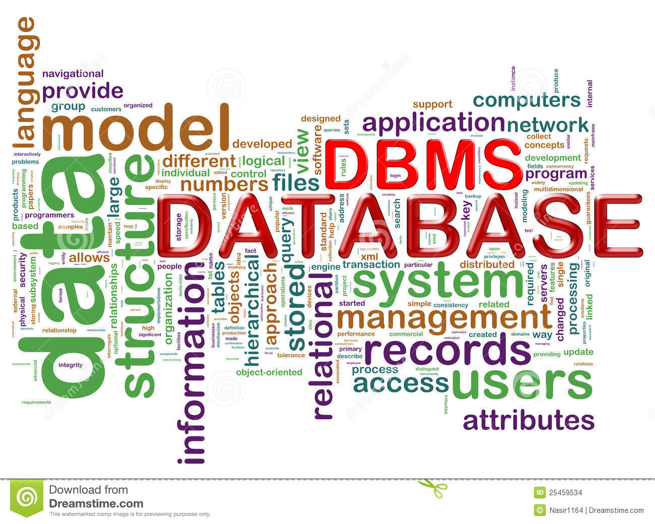 Word Tags Of Dbms Stock Images Image 25459534