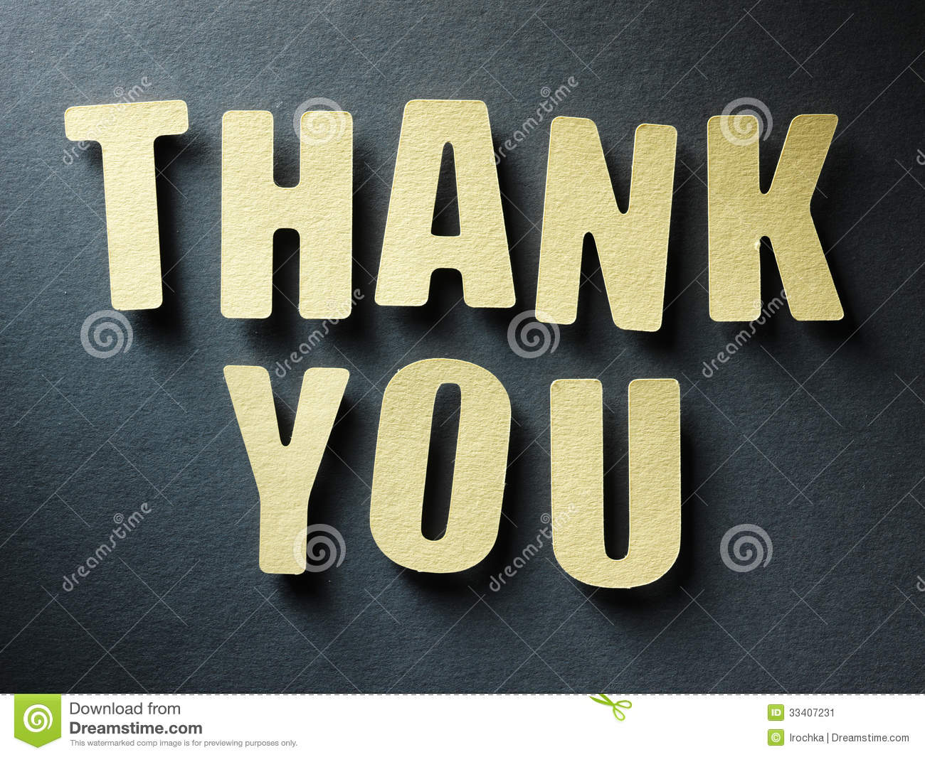 the word thank you on paper background stock image image of design