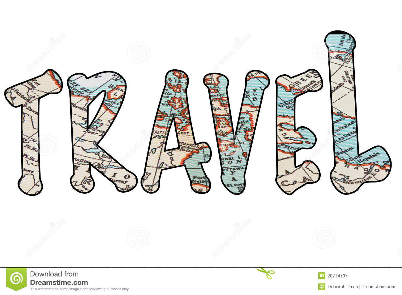 the word travel in isolatation stock illustration illustration of