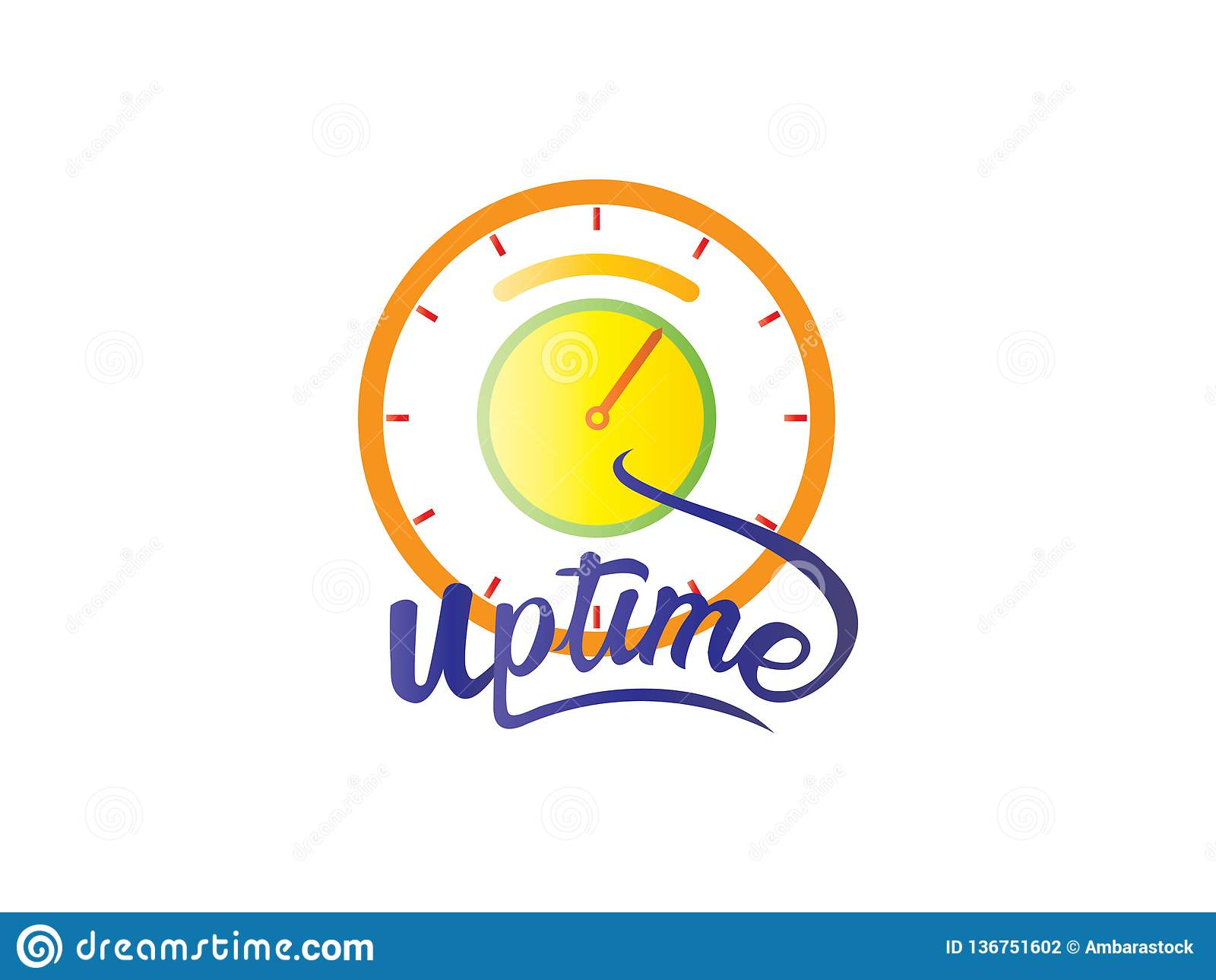 The word Up time logo