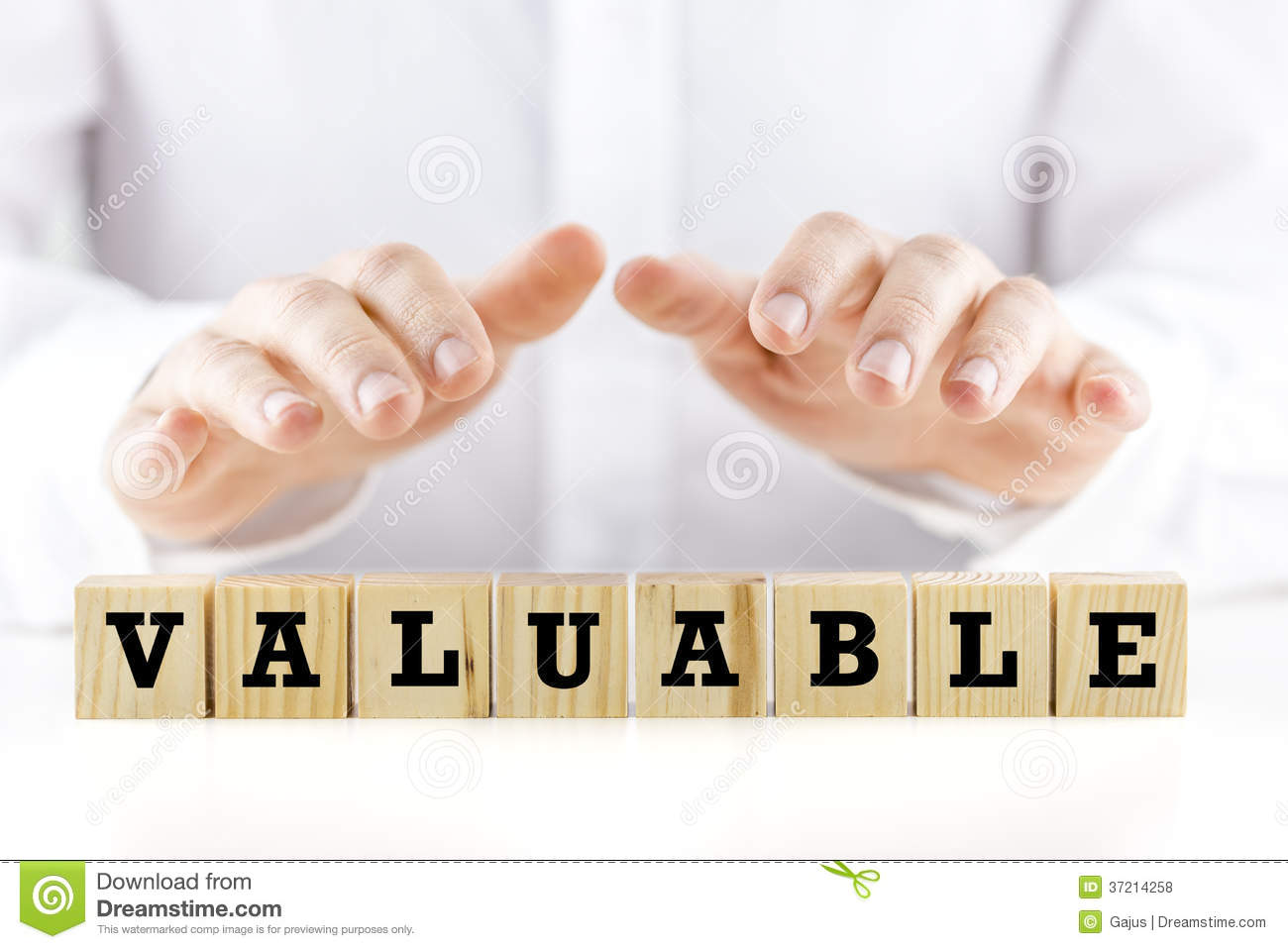 The Word - Valuable- On Wooden Cubes Stock Photo - Image ...