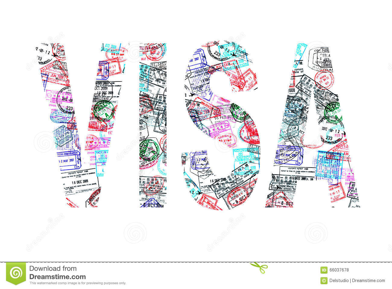 Word visa created with passport stamps stock image image of word visa created with passport stamps on white background royalty free stock photos biocorpaavc Choice Image