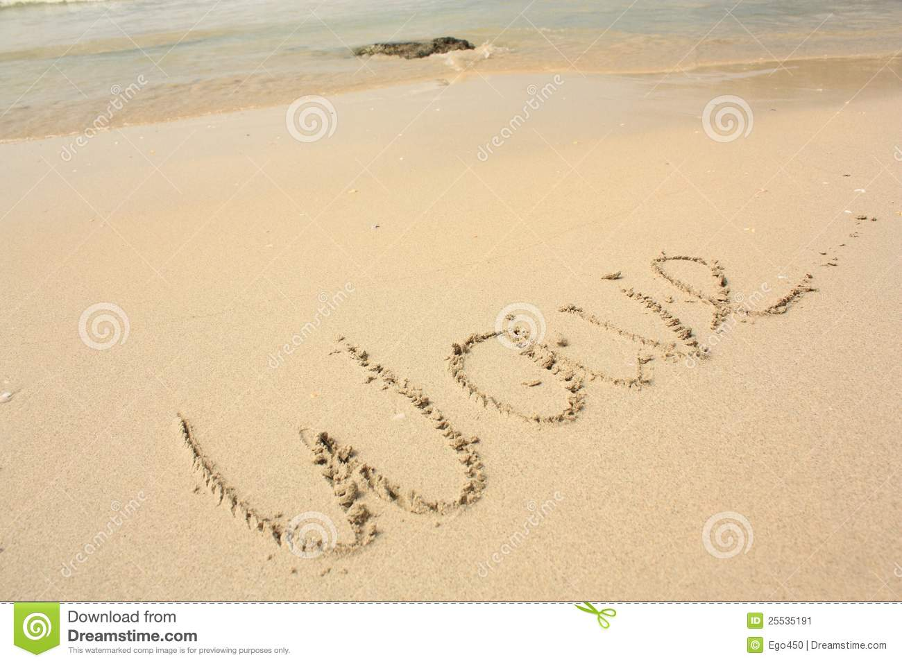 word wave on the beach stock image image of rock ocean 25535191