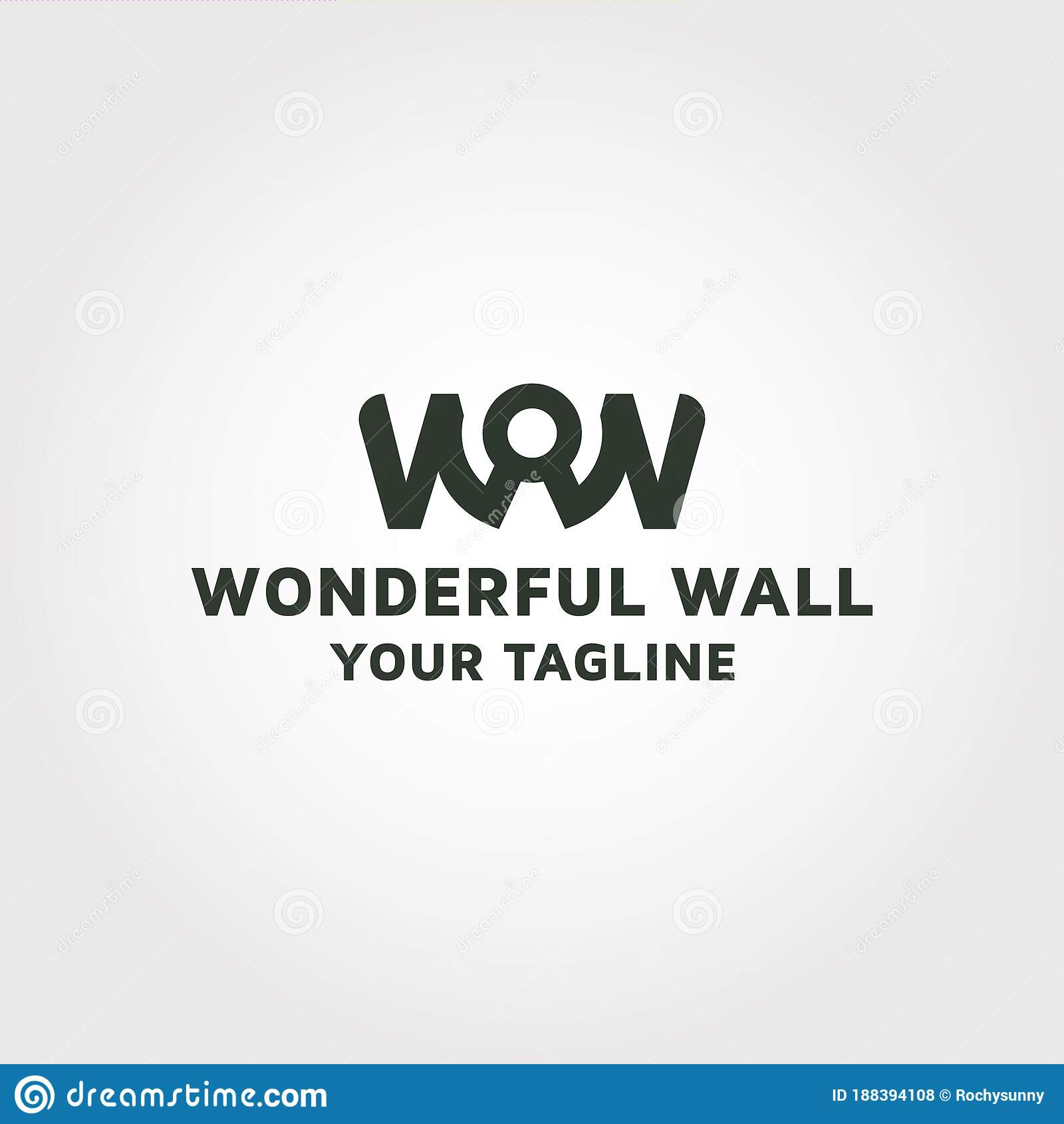 Word Wow Vector Logo Design Template Stock Vector Illustration Of Based Dynamite 188394108