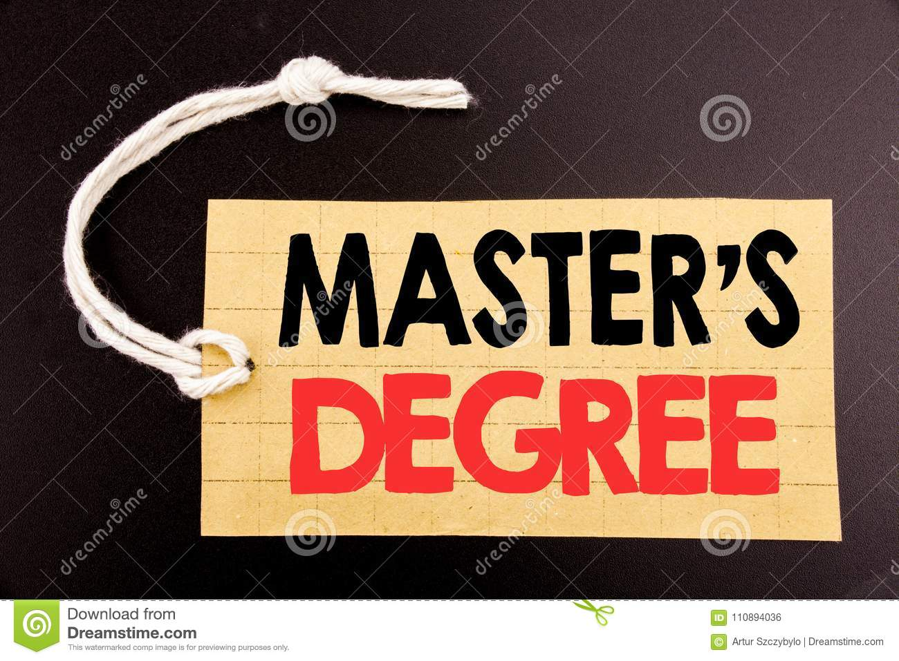 Do have write thesis masters degree