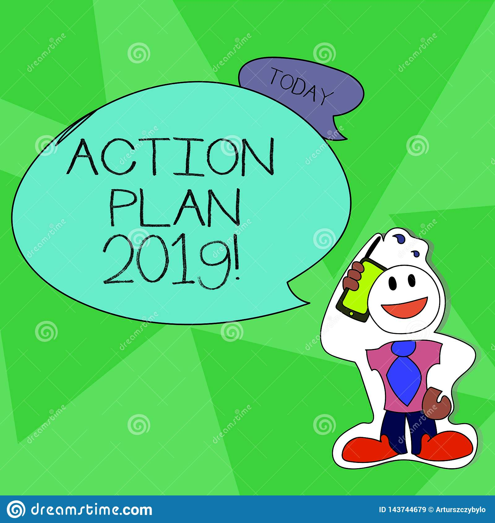Word writing text Action Plan 2019. Business concept for proposed strategy or course of actions for current year Smiley
