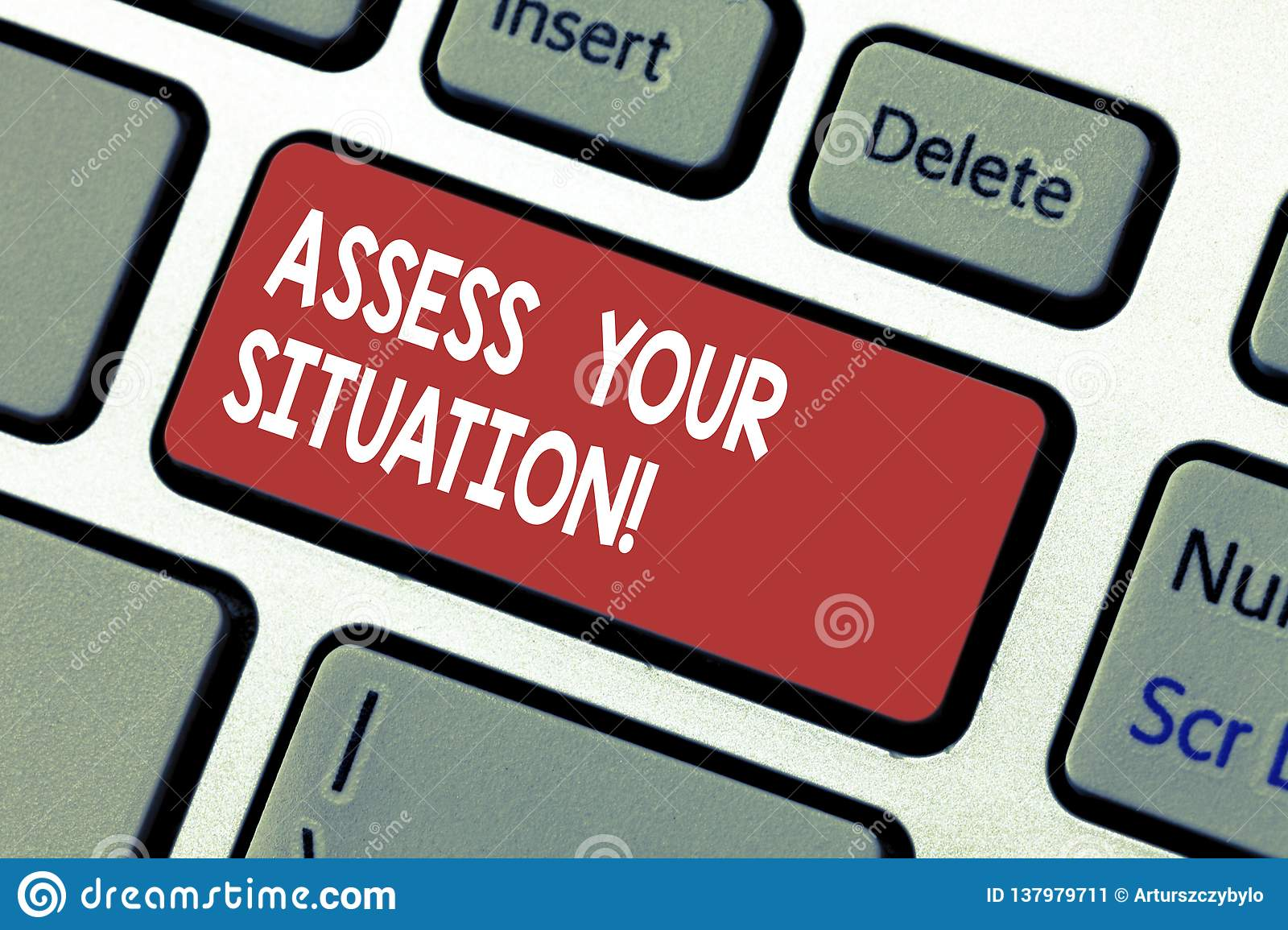 Word writing text Assess Your Situation. Business concept for Judging a situation after sighted all the information