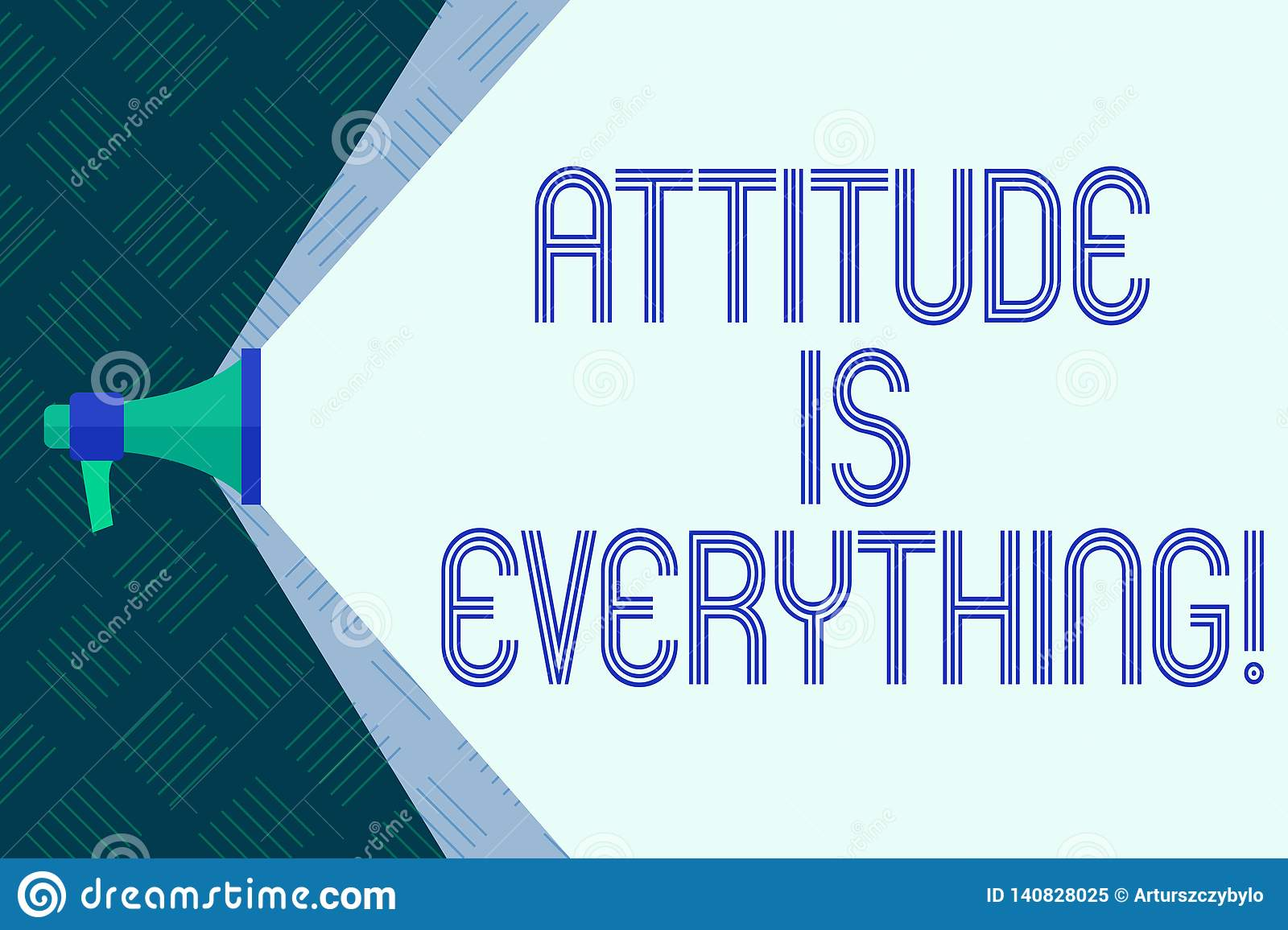 Word writing text Attitude Is Everything. Business concept for Motivation Inspiration Optimism important to succeed.