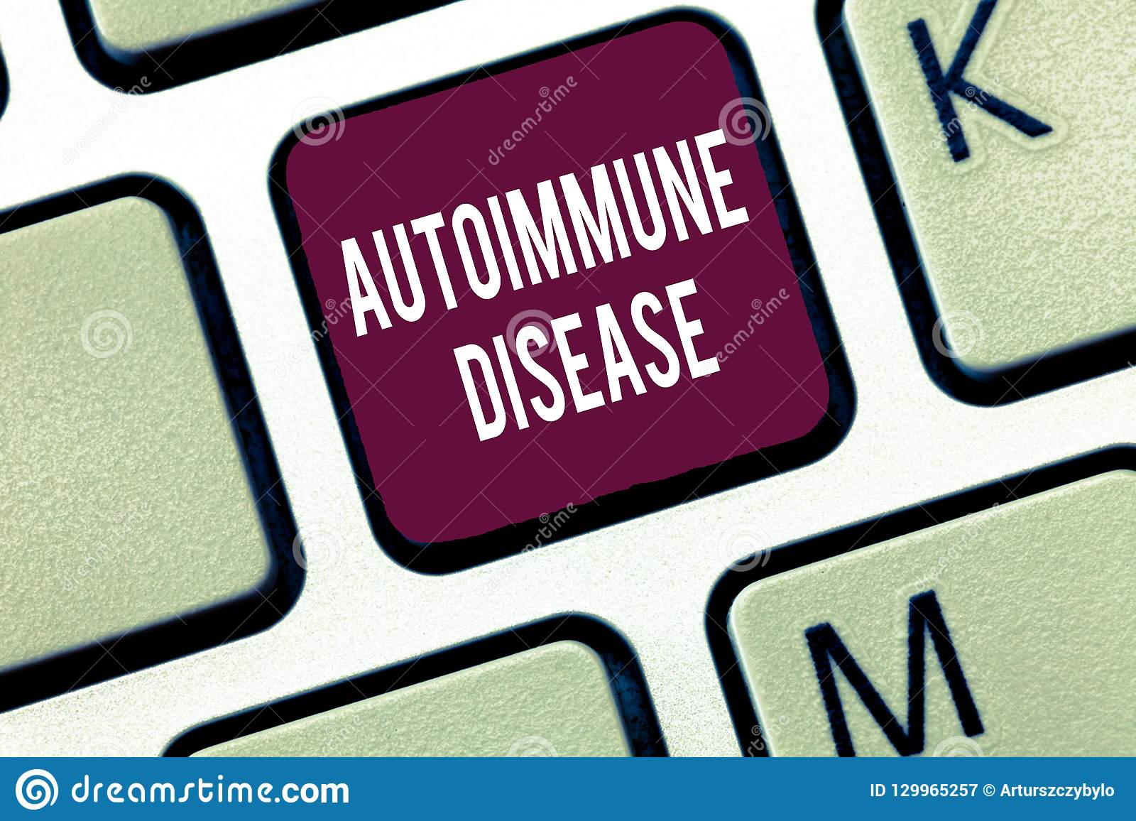 Word writing text Autoimmune Disease. Business concept for Unusual antibodies that target their own body tissues