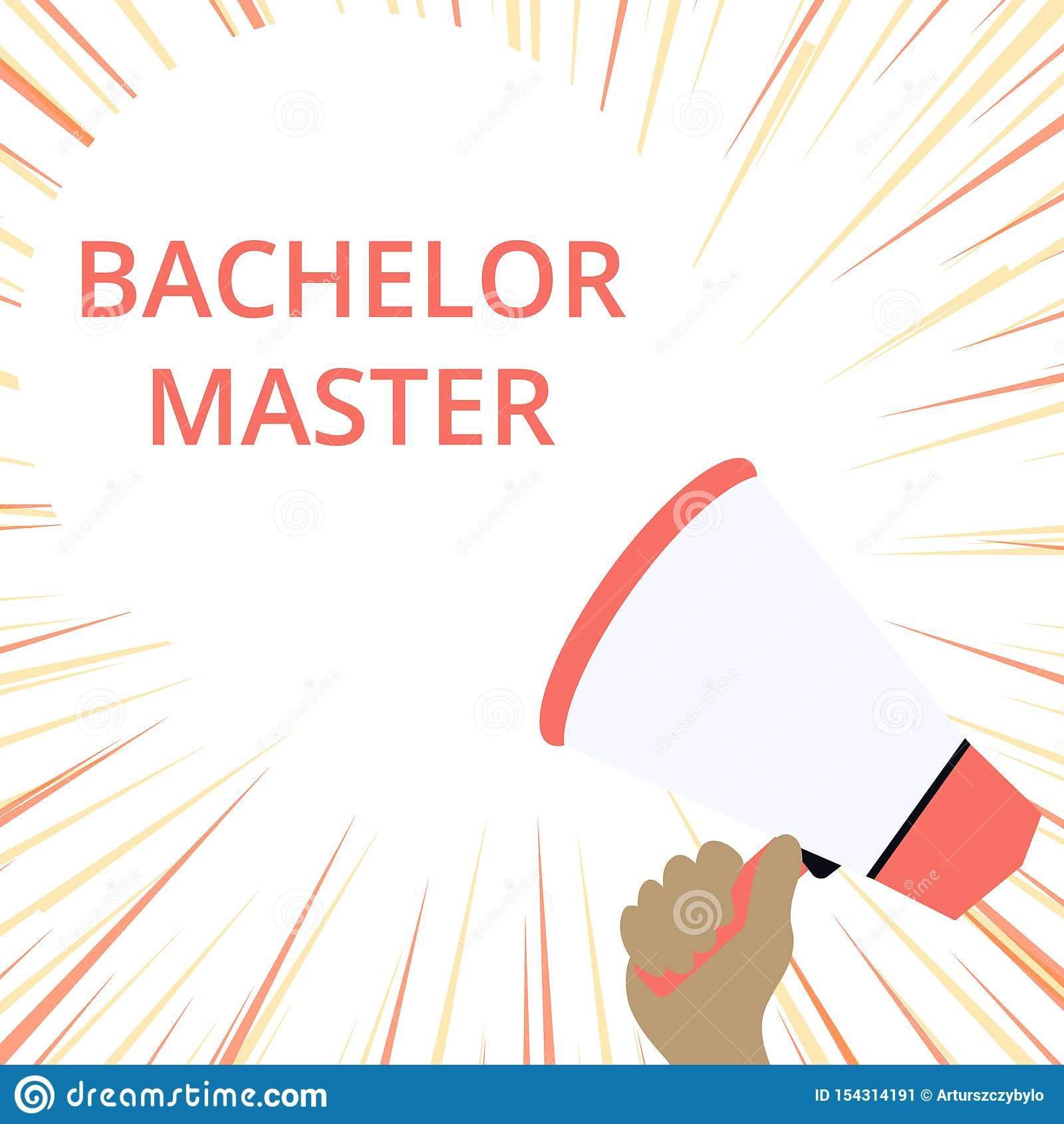 word writing text bachelor master business concept for an