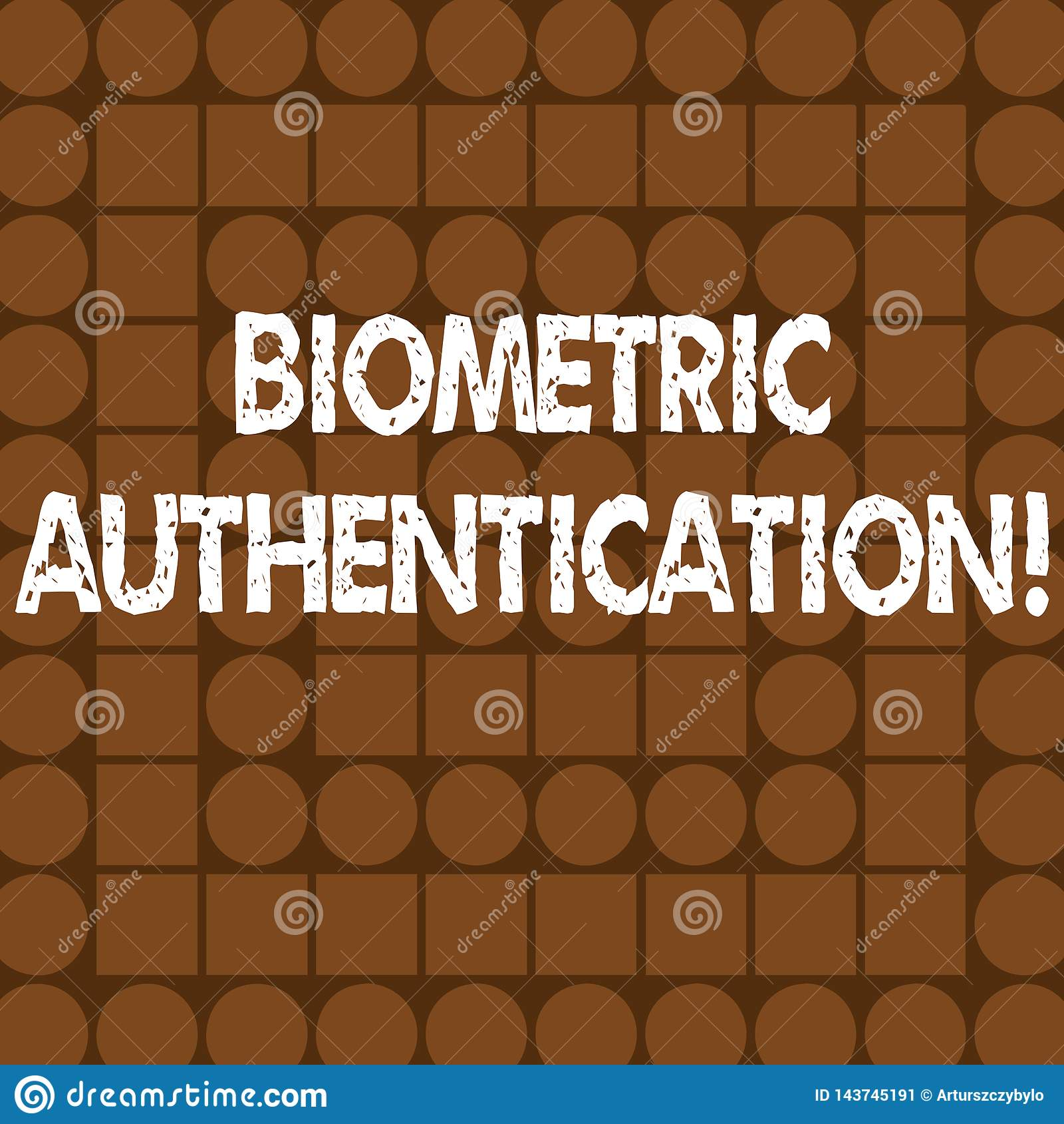 Word writing text Biometric Authentication. Business concept for identity verification involves biological input