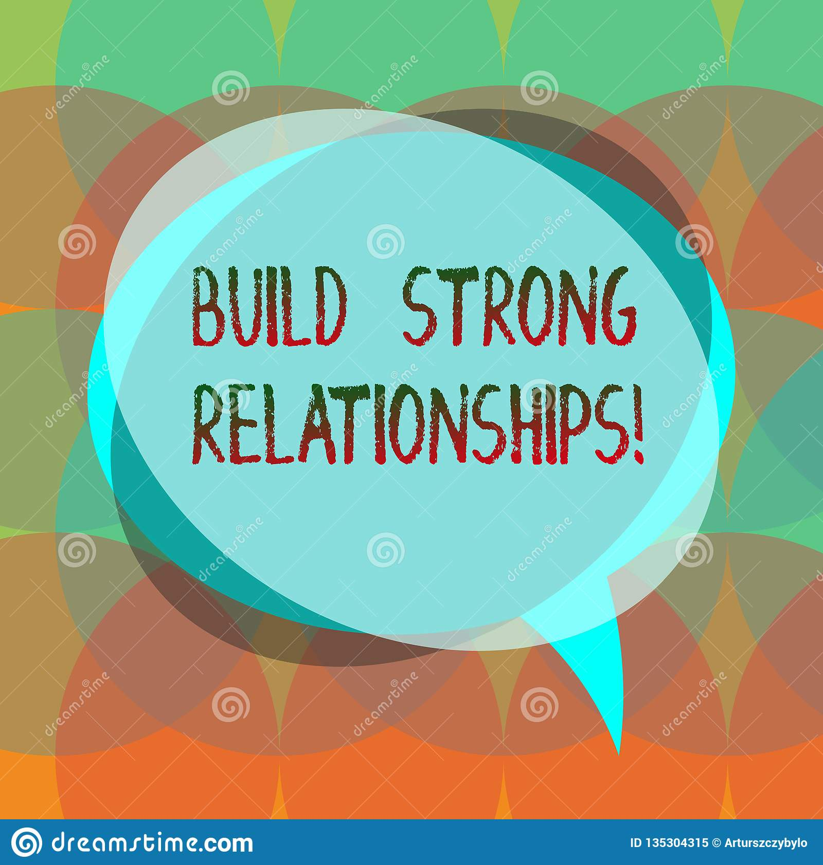 Word Writing Text Build Strong Relationships  Business