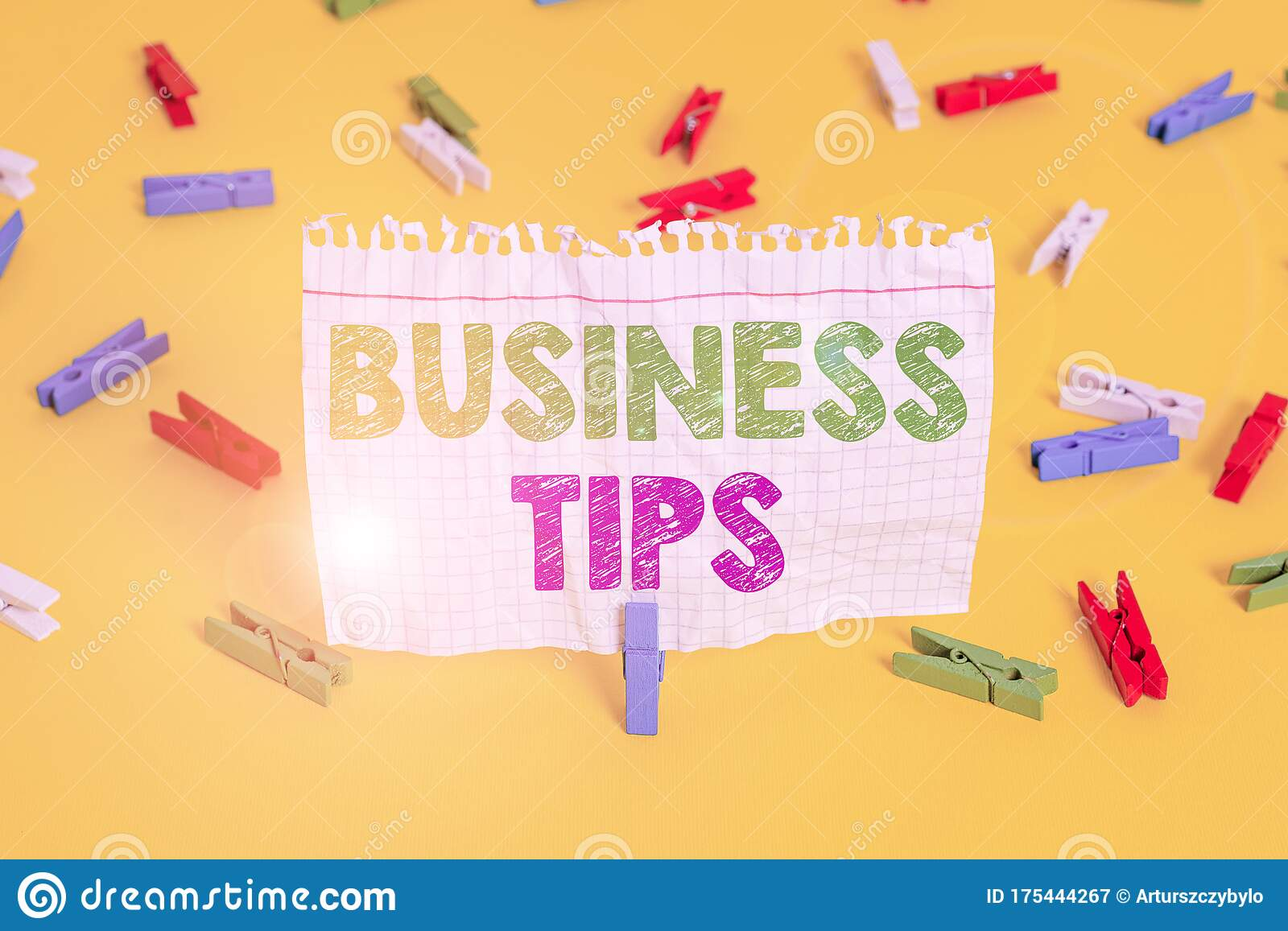 Word Writing Text Business Tips Business Concept For Tricks Or Ideas On How To Start Or Run A Small Business Colored Clothespin Stock Image Image Of Creative Plan 175444267