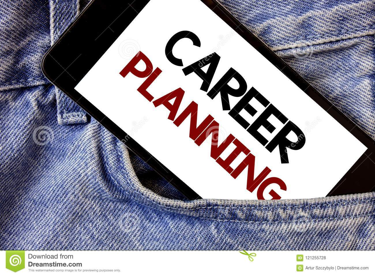 Word writing text Career Planning. Business concept for Professional Development Educational Strategy Job Growth Text two Words wr
