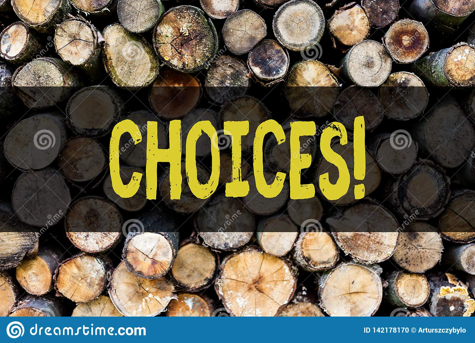 Word writing text Choices. Business concept for Preference Discretion Inclination Distinguish Options Selection Wooden