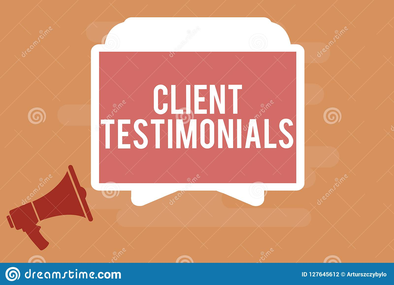Word writing text Client Testimonials. Business concept for Written Declaration Certifying persons Character Value