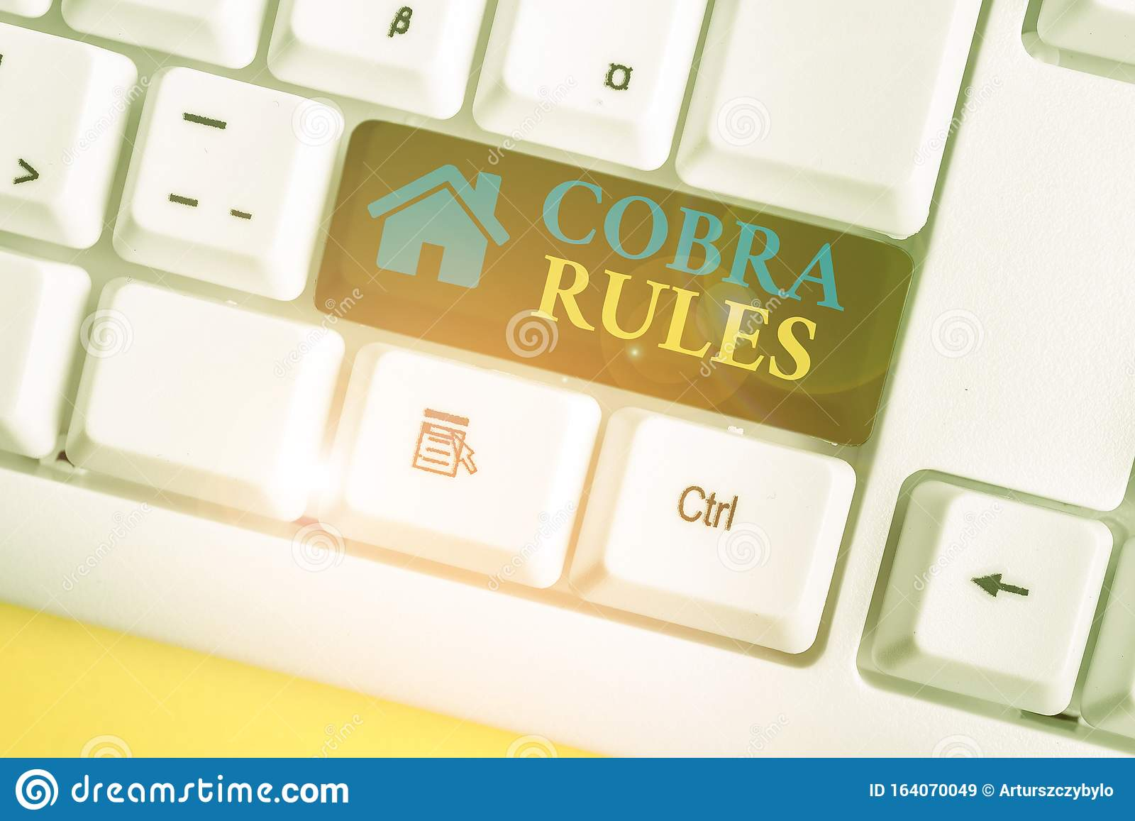 Word Writing Text Cobra Rules. Business Concept For ...