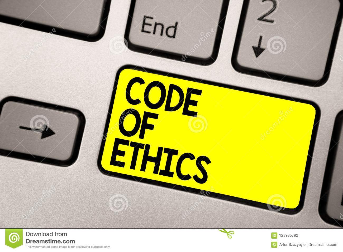 Word Writing Text Code Of Ethics  Business Concept For Moral
