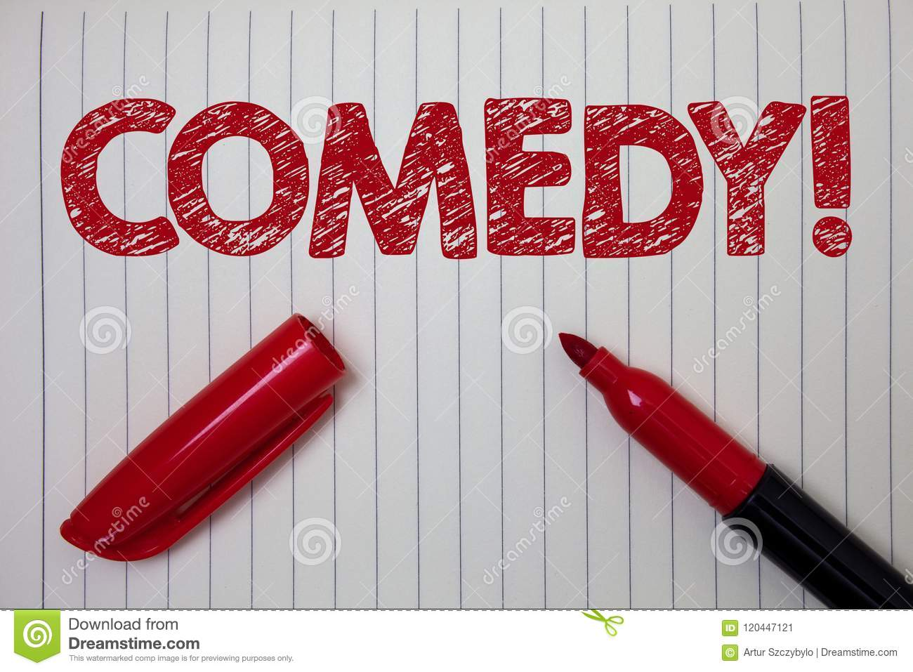 Word Writing Text Comedy Call Business Concept For Fun Humor