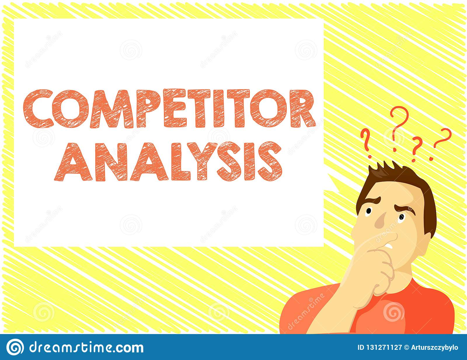 Word Writing Text Competitor Analysis  Business Concept For