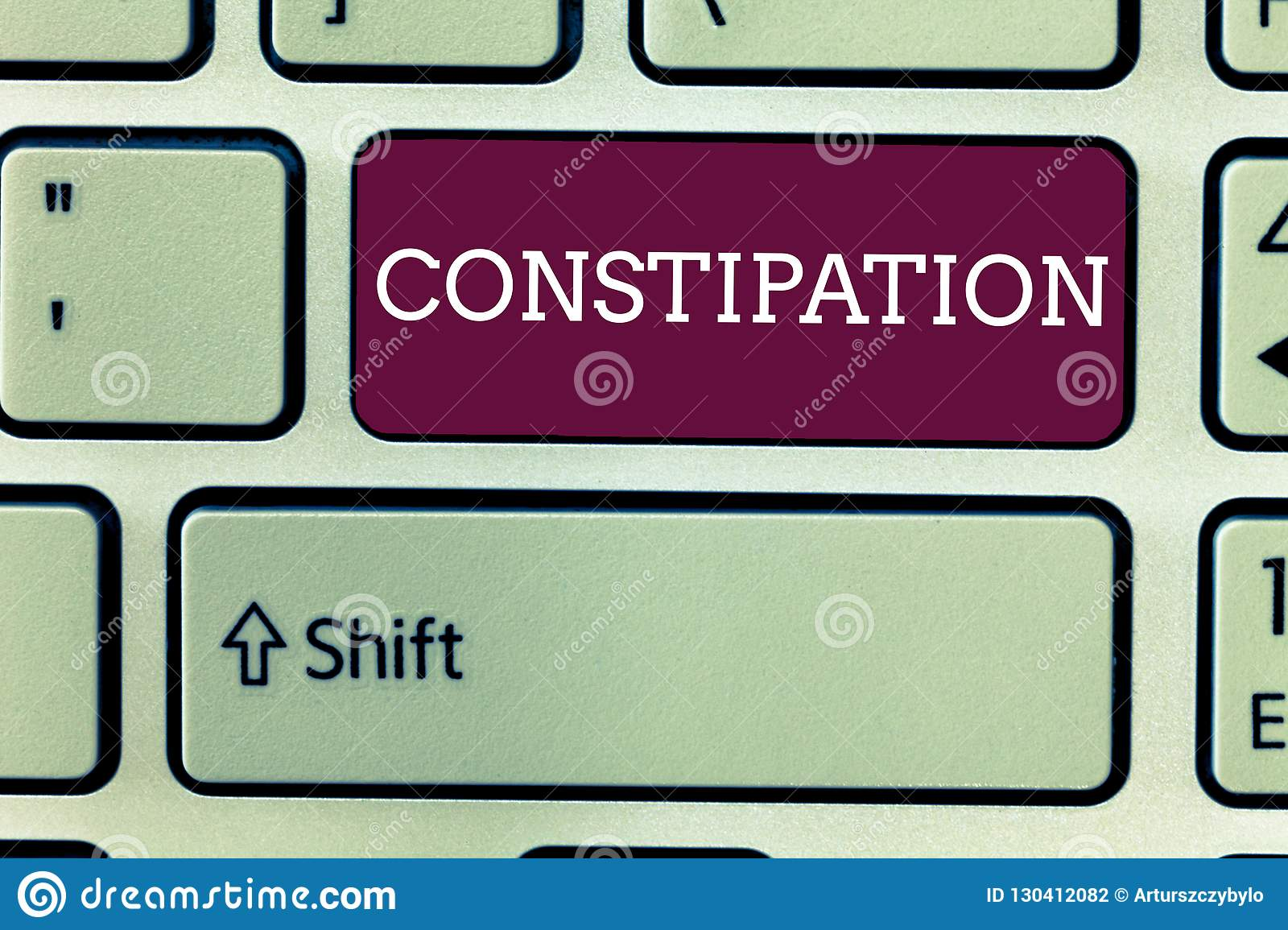 Word Writing Text Constipation  Business Concept For Bowel