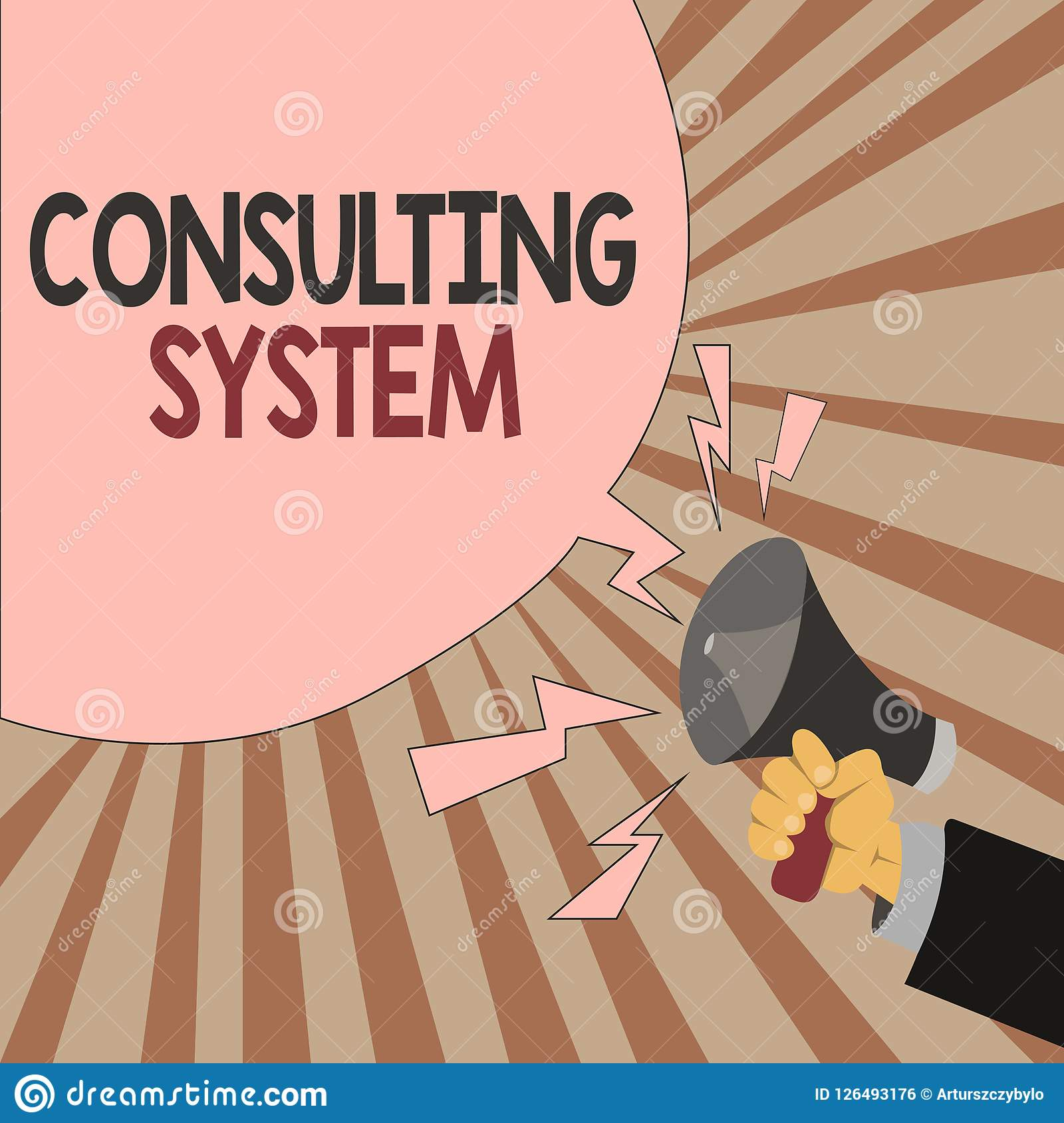 Word Writing Text Consulting System. Business Concept For
