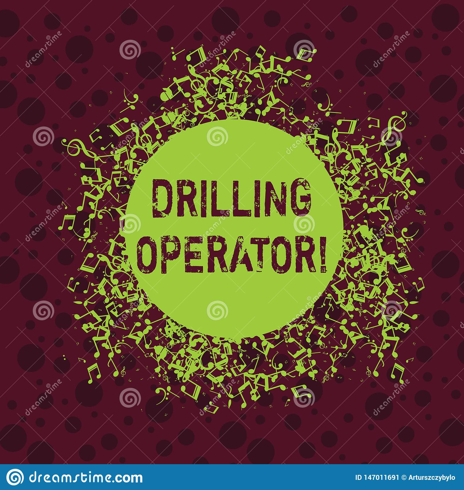 Word writing text Drilling Operator. Business concept for someone that do the rigging and drilling operations Disarrayed