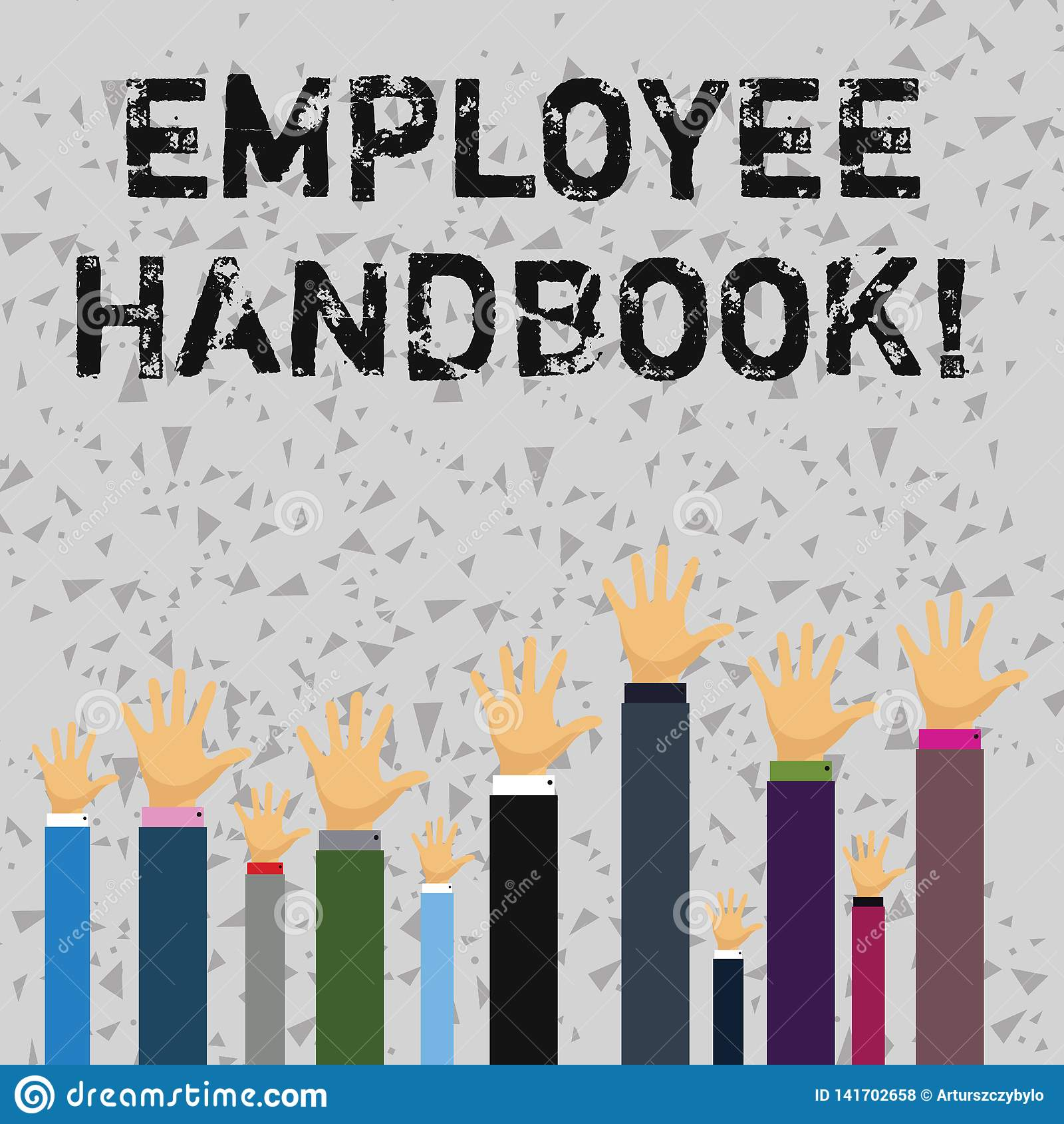 Word Writing Text Employee Handbook. Business Concept For