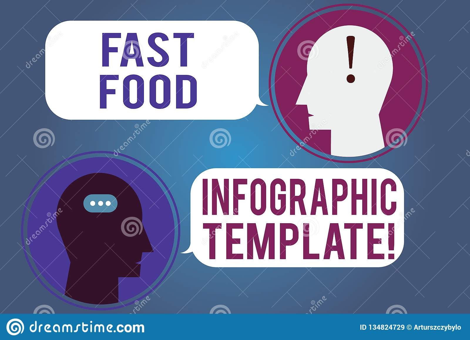 Word Writing Text Fast Food Infographic Template  Business