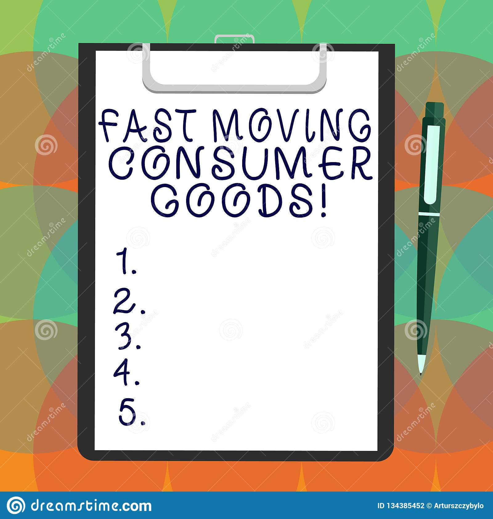 Word writing text Fast Moving Consumer Goods. Business concept for High volume of purchases Consumerism retail Blank Sheet of Bond