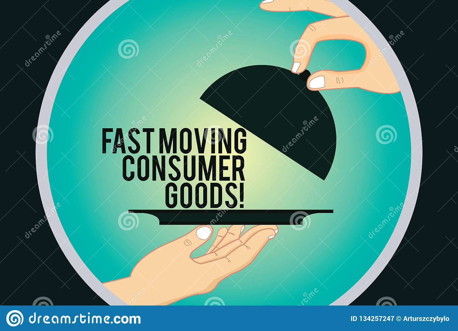 Word writing text Fast Moving Consumer Goods. Business concept for High volume of purchases Consumerism retail Hu