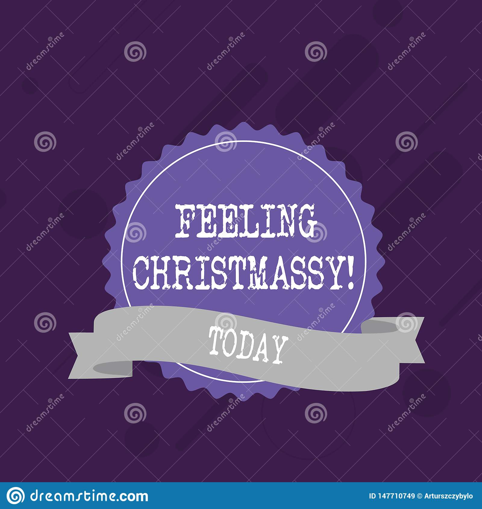 Word writing text Feeling Christmassy. Business concept for Resembling or having feelings of Christmas festivity Blank