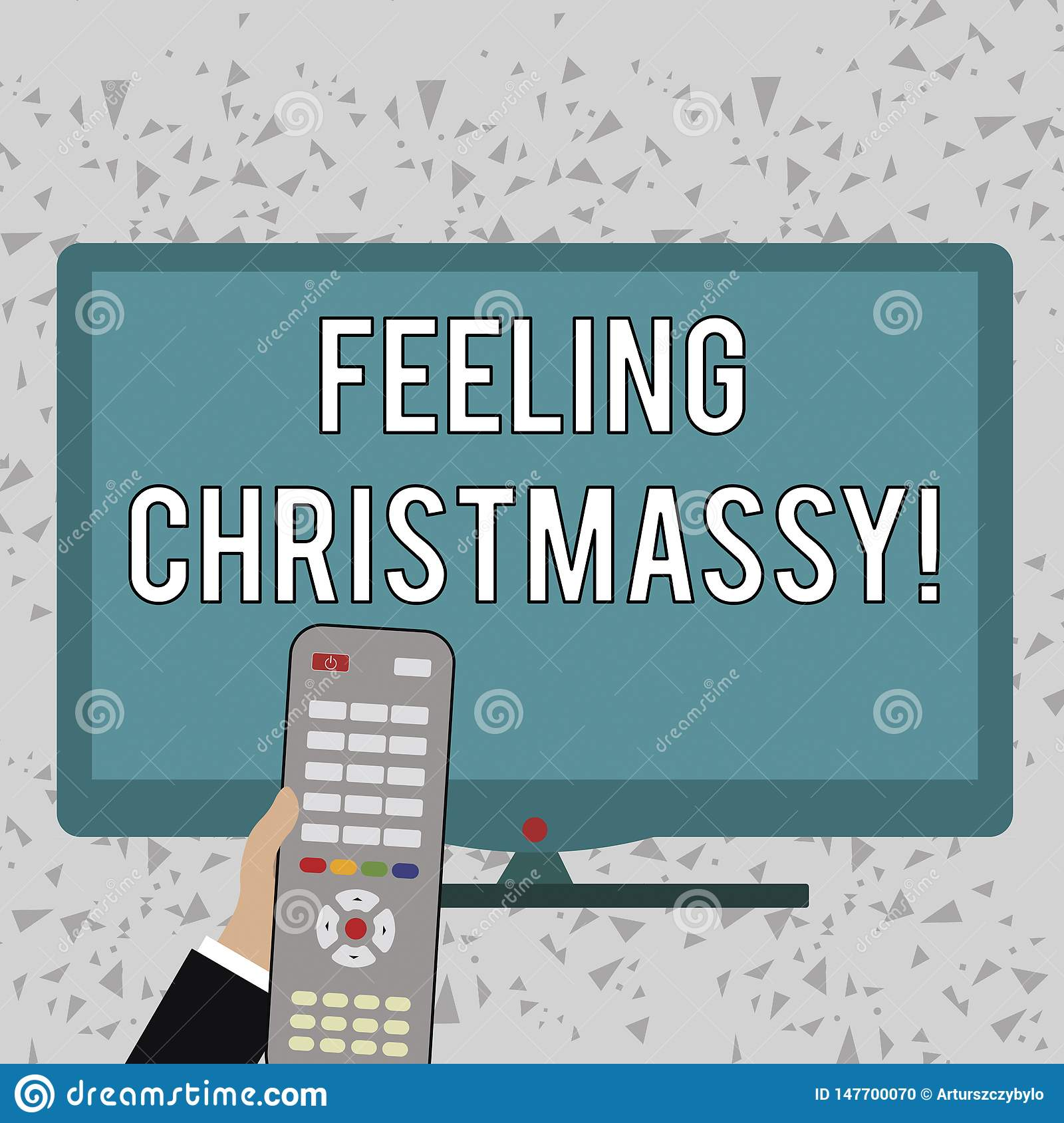 Word writing text Feeling Christmassy. Business concept for Resembling or having feelings of Christmas festivity Hand