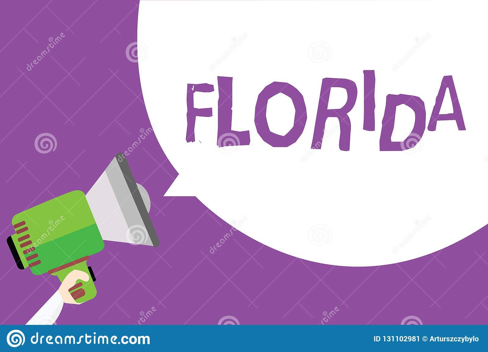 Word writing text Florida. Business concept for State in southeastern region of United States Sunny place Beaches Man