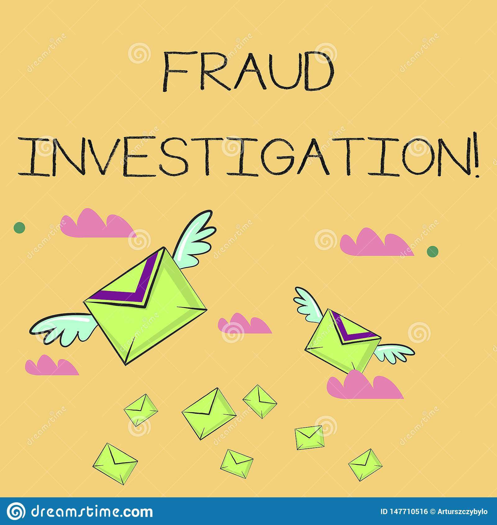 Word writing text Fraud Investigation. Business concept for process of determining whether a scam has taken place Many