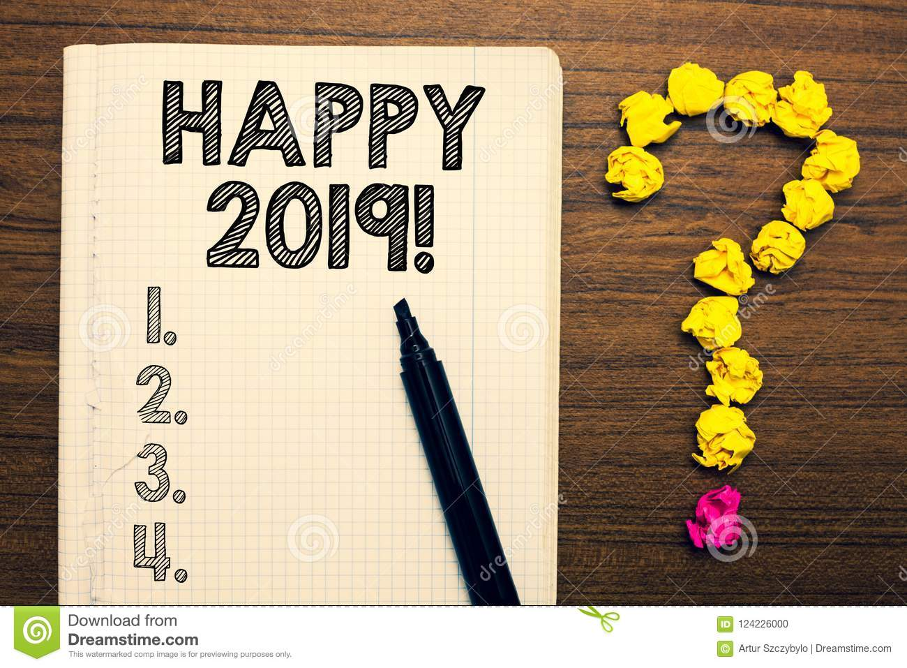 word writing text happy 2019 business concept for time or day at