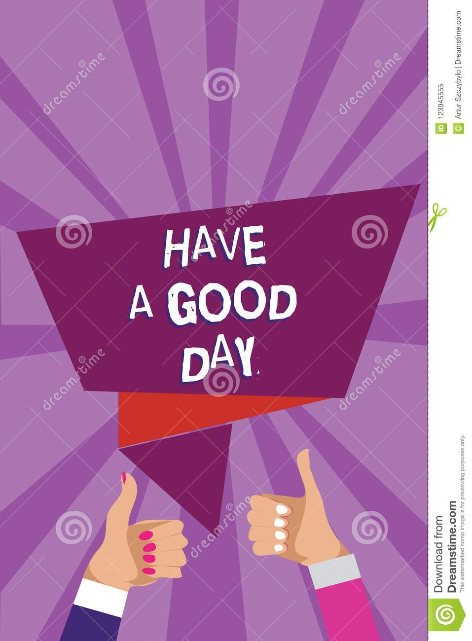 Word Writing Text Have A Good Day Business Concept For Nice Gesture