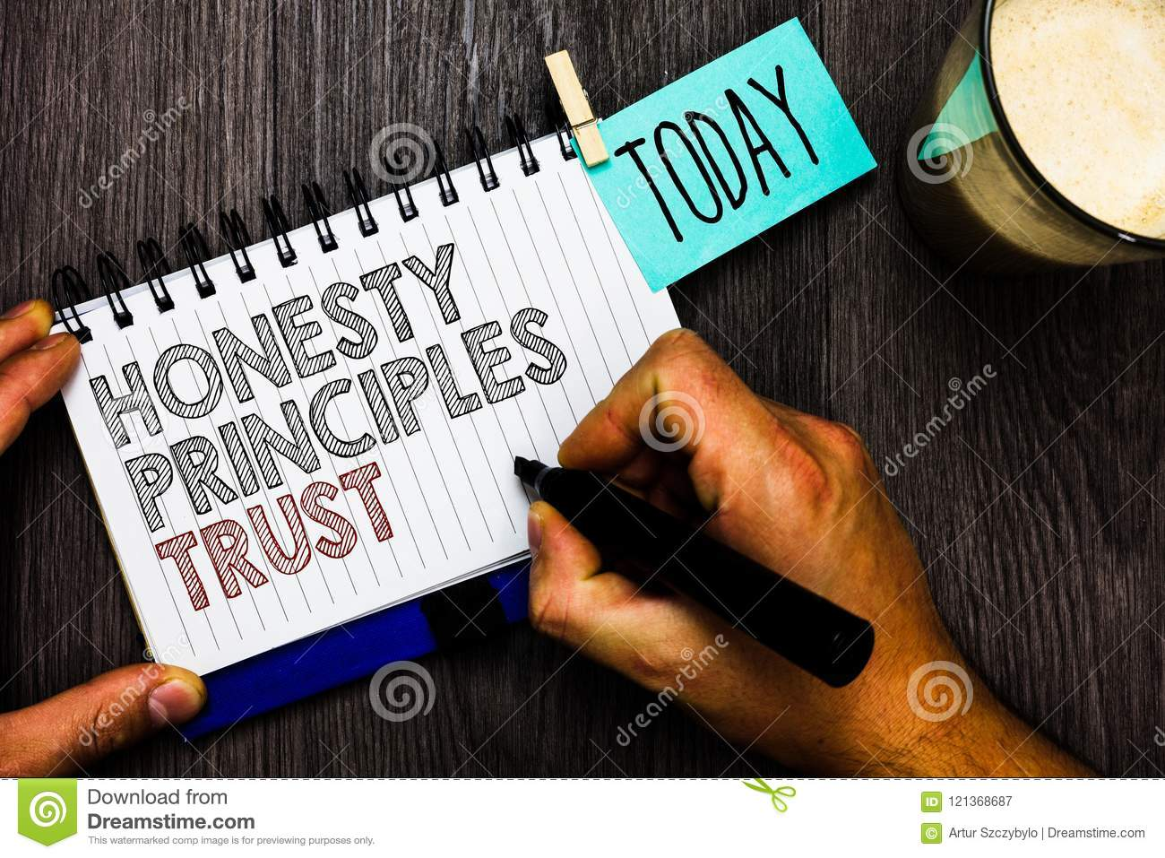 Word Writing Text Honesty Principles Trust  Business Concept