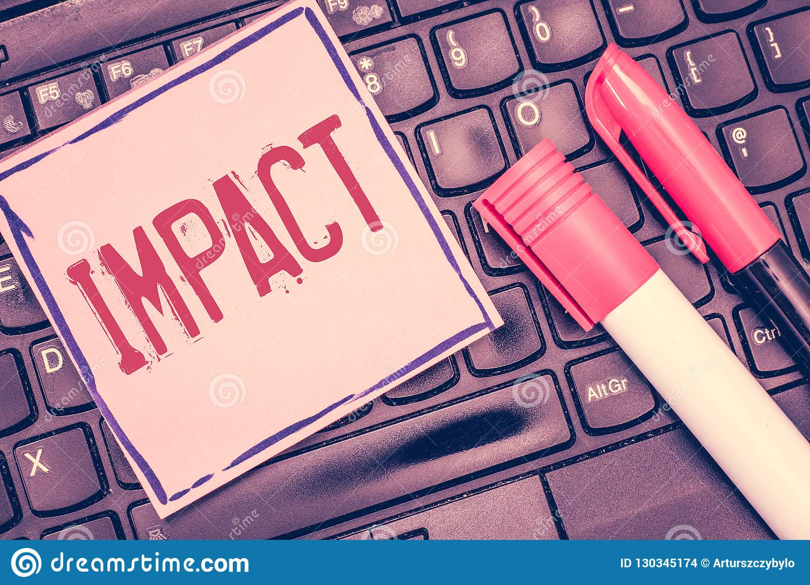 Word Writing Text Impact Business Concept For Action Of One Object