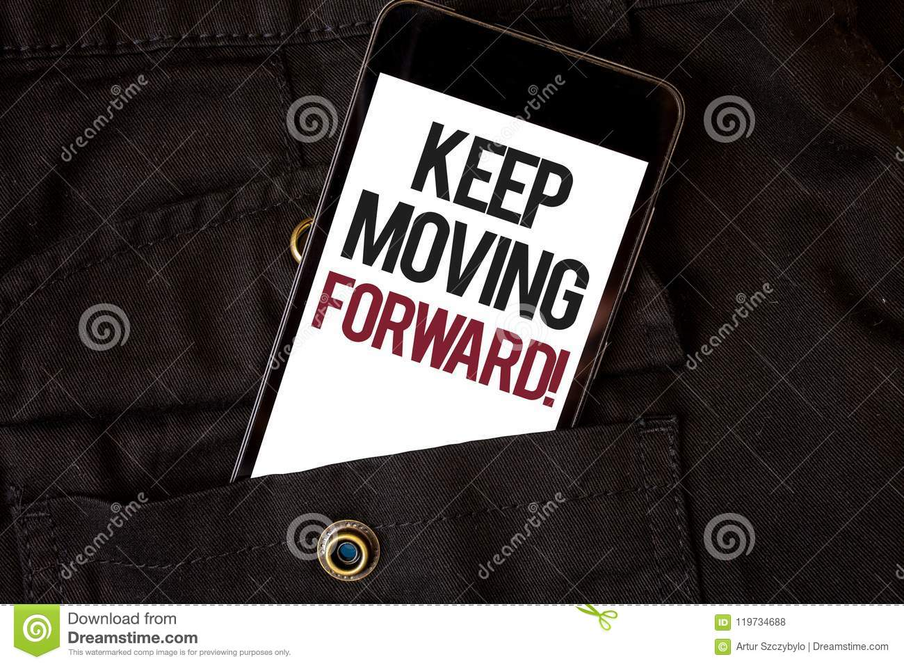 word for move forward