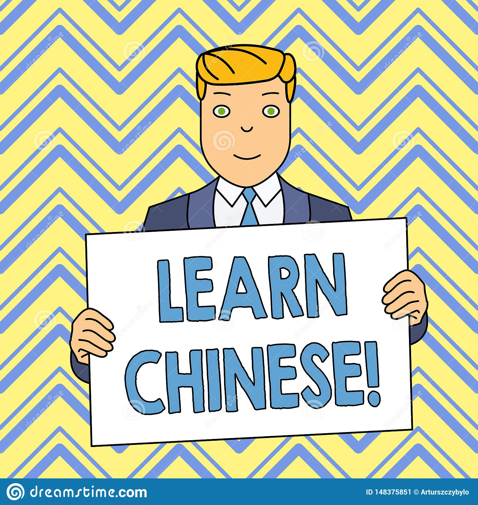 Word writing text Learn Chinese. Business concept for gain or acquire knowledge in writing and speaking Chinese Smiling
