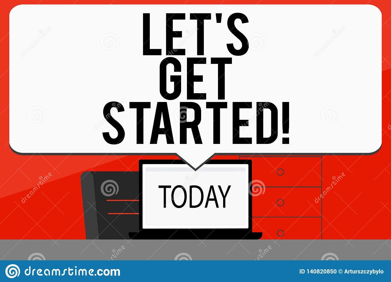 Word writing text Let S Get Started. Business concept for beginning time motivational quote Inspiration encourage.