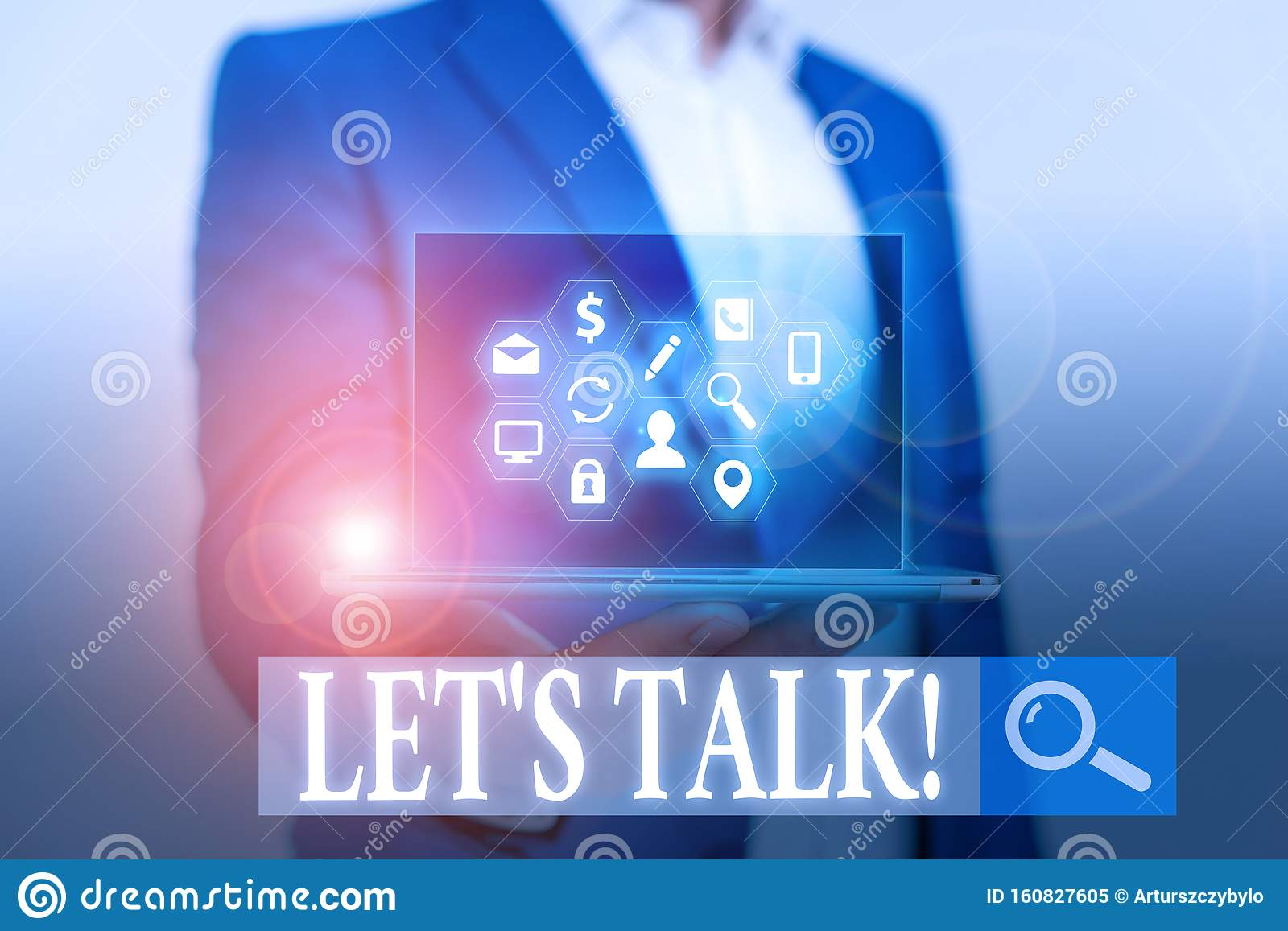 Word Writing Text Let S Talk. Business Concept For They Are ...