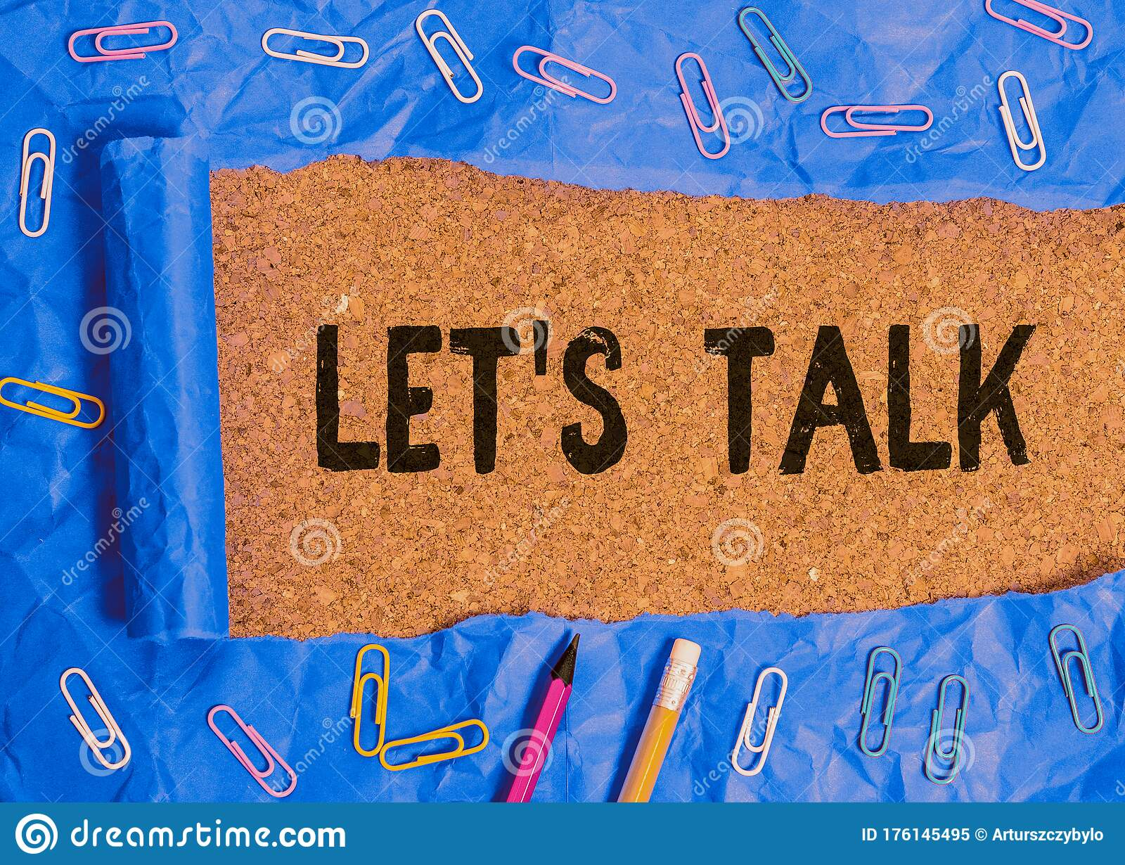 Word Writing Text Let Talk. Business Concept For To Discuss ...
