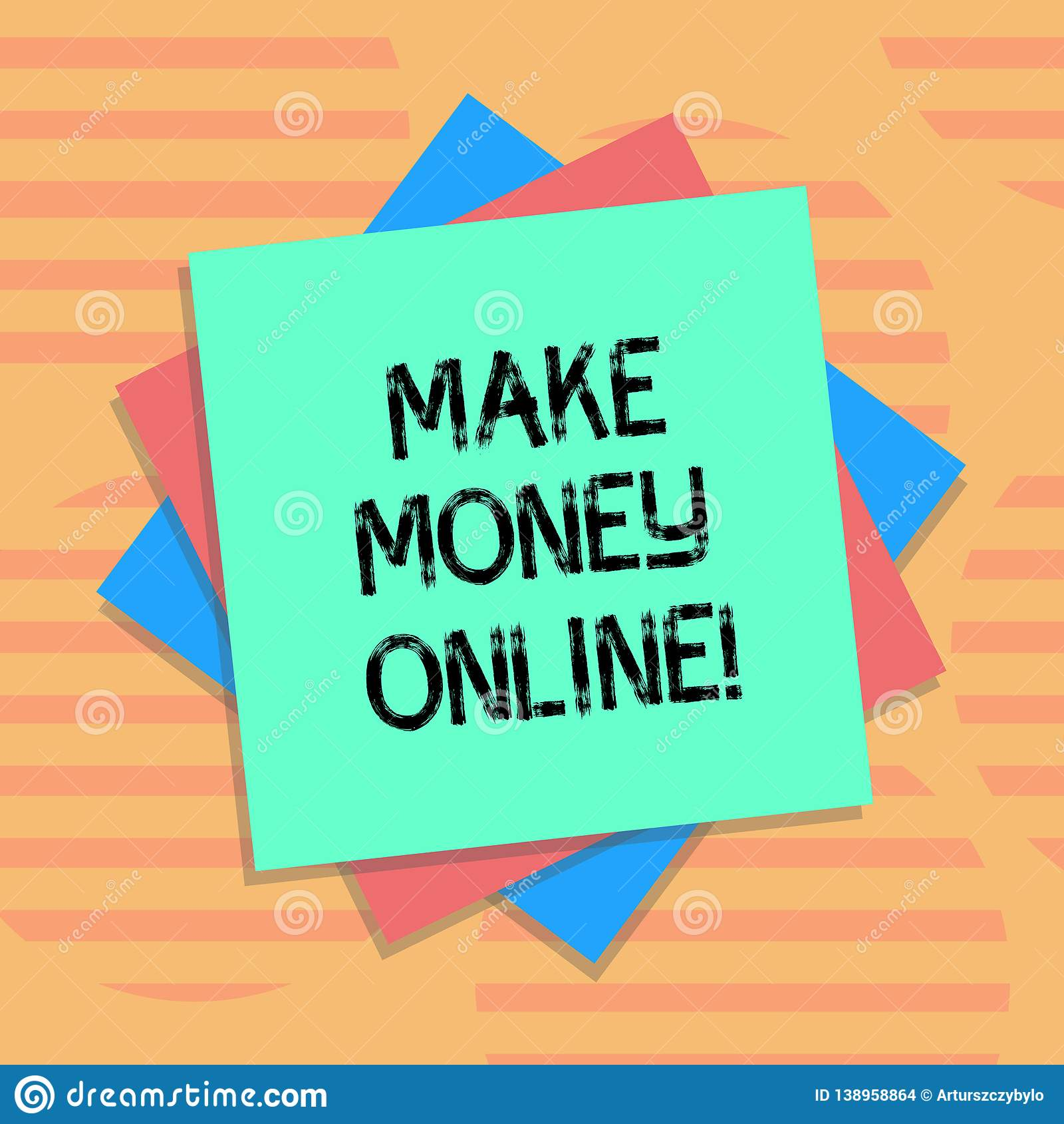 Word Writing Text Make Money Online  Business Concept For Obtain