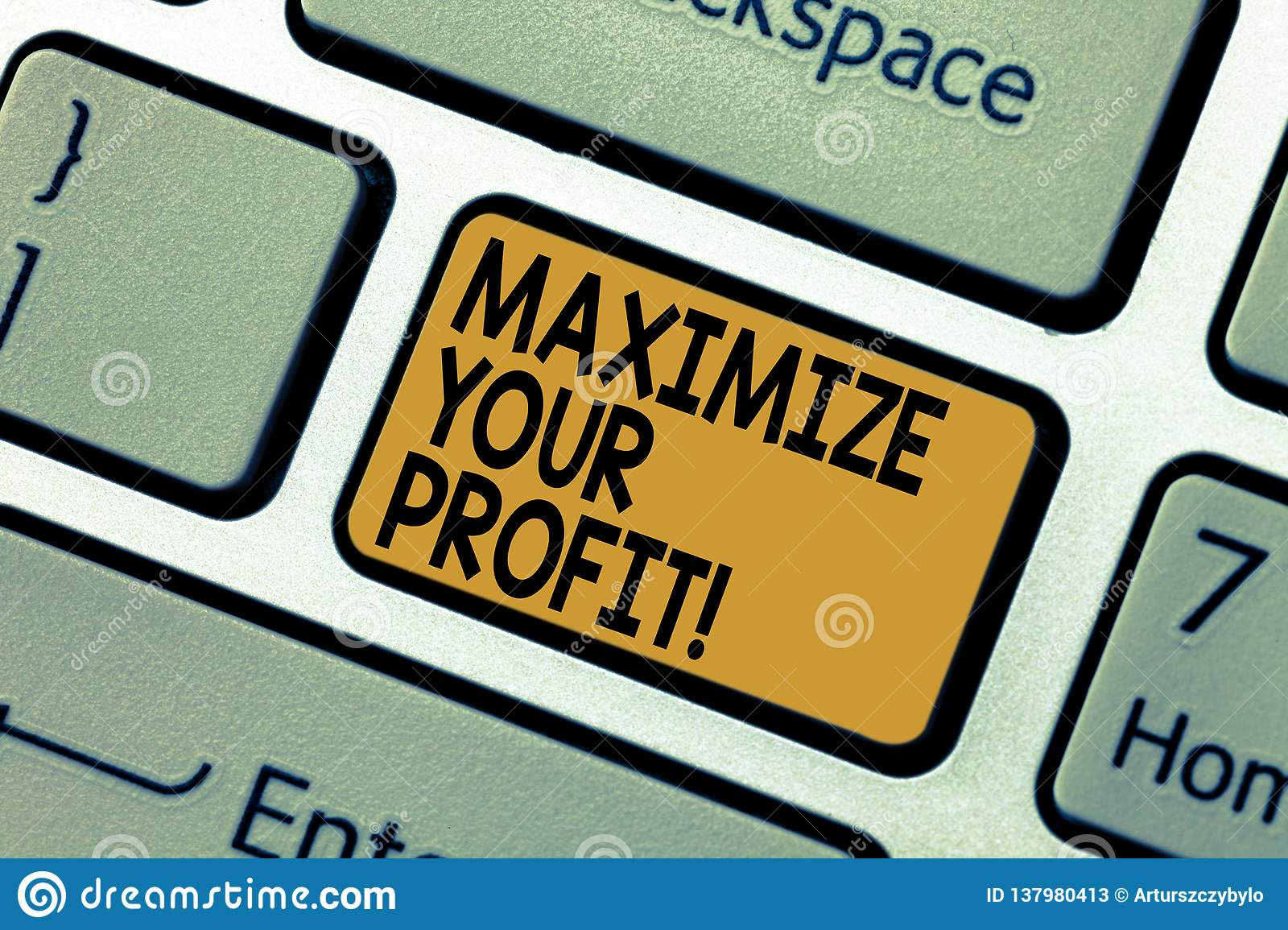 Word writing text Maximize Your Profit. Business concept for Achieve a maximum profit with low operating expenses