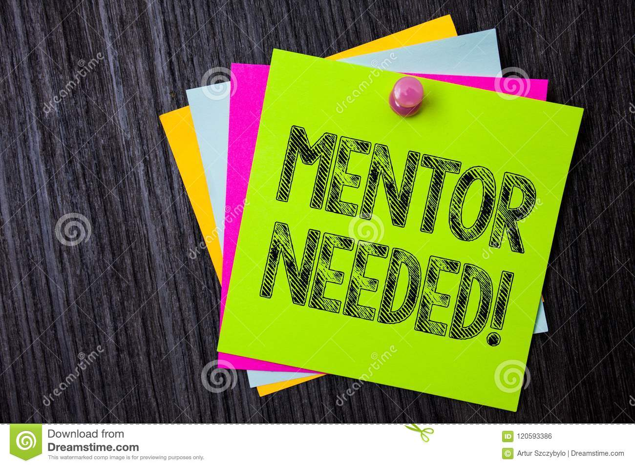 Word Writing Text Mentor Needed Motivational Call Business Concept